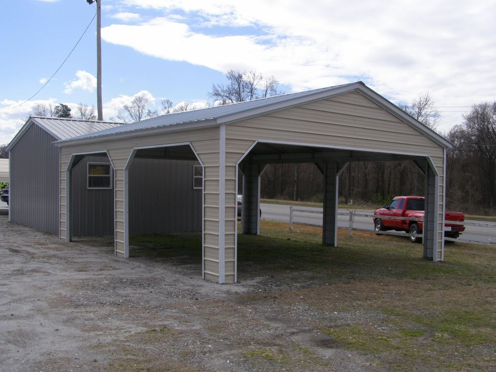 Vertical Roof Side Entry Carports