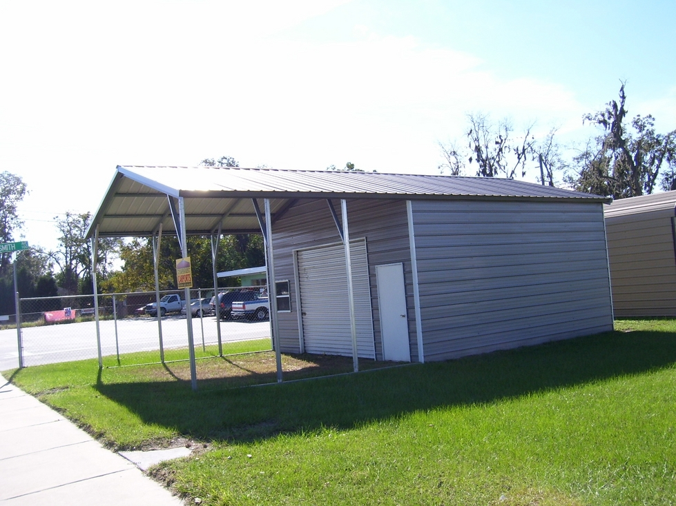 Carport with Enclosure