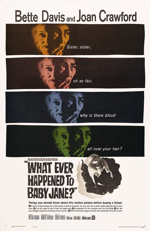 """Poster for """"What Ever Happened To baby jane?"""""""