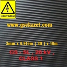 Medium Low Voltage Switchboard Matting / High Voltage Insulation Rubber Mat Indonesia
