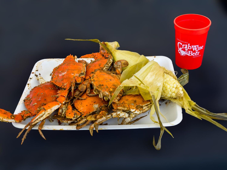 beer wine crab